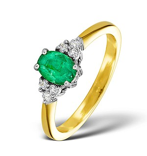 18K Gold 0.75CT Emerald