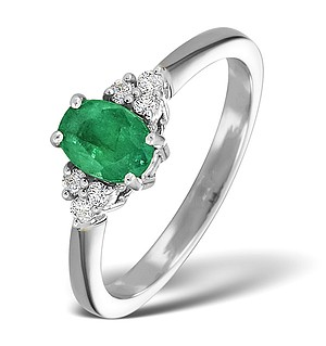 18K White Gold 0.75CT Emerald