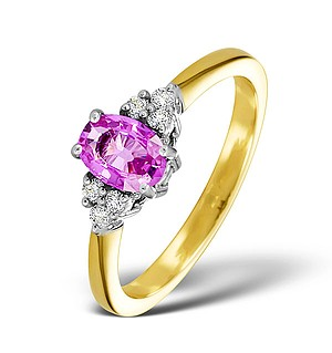 18K Gold 0.85CT Pink Sapphire