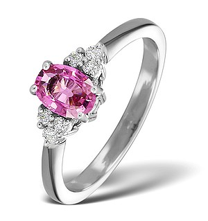 18K White Gold 0.85CT Pink Sapphire