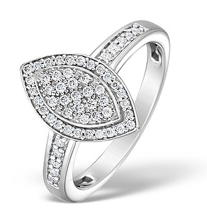 18K White Gold Diamond Exclusive Pave Ring 0.25ct