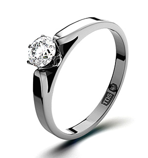 Low Set Chloe 18K White Gold Diamond Ring 0.25CT-G-H/SI