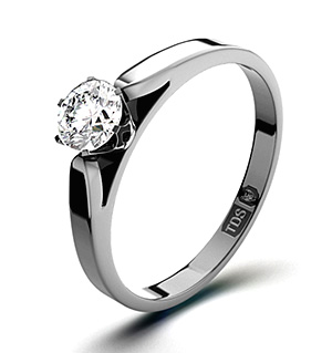 Low Set Chloe 18K White Gold Diamond Ring 0.33CT-F-G/VS