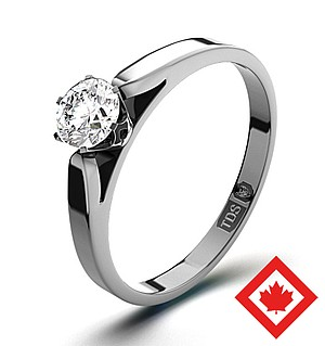 Low Set Chloe 18K White Gold Canadian Diamond Ring 0.30CT H/SI2