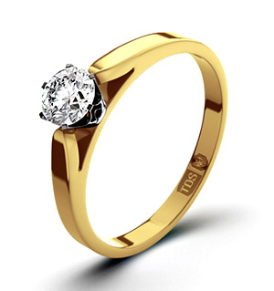 Low Set Chloe 18K Gold Diamond Ring 0.33CT-F-G/VS