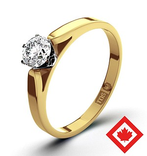 Low Set Chloe 18K Gold Canadian Diamond Ring 0.30CT H/SI1