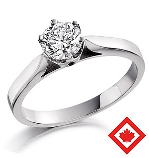 Low Set Chloe Platinum Canadian Diamond Ring 0.50CT H/SI2