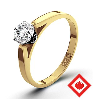 Low Set Chloe 18K Gold Canadian Diamond Ring 0.50CT H/SI1
