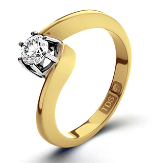 Leah 18K Gold Diamond Engagement Ring 0.25CT-F-G/VS