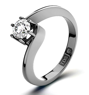 Leah 18K White Gold Diamond Engagement Ring 0.50CT-H-I/I1