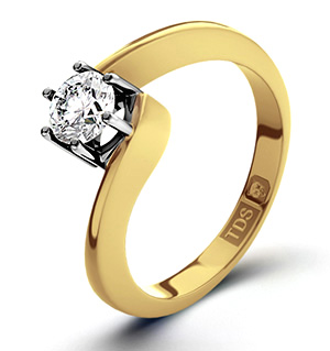 Leah 18K Gold Diamond Engagement Ring 0.33CT-H-I/I1