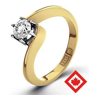 Leah 18K Gold Canadian Diamond Ring 0.30CT H/SI1