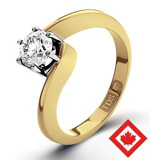 Leah 18K Gold Canadian Diamond Ring 0.50CT H/SI1