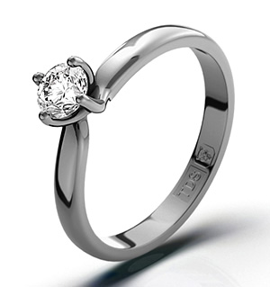 Lily Platinum Diamond Ring 0.33CT-F-G/VS