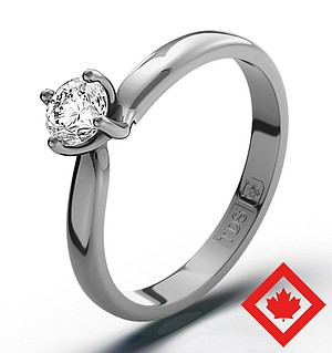 Lily Platinum Canadian Diamond Ring 0.30CT H/SI2