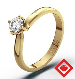 Lily 18K Gold Canadian Diamond Ring 0.30CT G/VS2