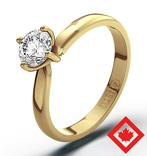 Lily 18K Gold Canadian Diamond Ring 0.50CT H/SI1