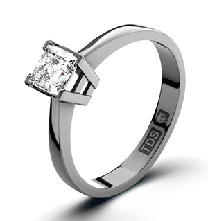 Lauren 18K White Gold Diamond Engagement Ring 0.25CT-F-G/VS