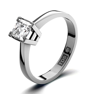 Lauren 18K White Gold Diamond Engagement Ring 0.33CT-F-G/VS