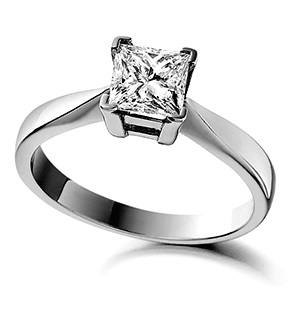 Lauren 18K White Gold Diamond Engagement Ring 0.50CT-F-G/VS