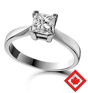Lauren 18K White Gold Canadian Diamond Ring 0.50CT H/SI2