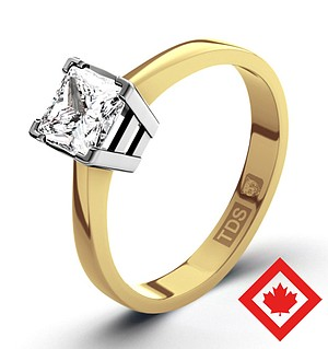 Lauren 18K Gold Canadian Diamond Ring 0.50CT G/VS1