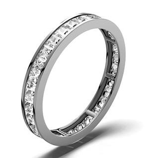 LAUREN PLATINUM DIAMOND FULL ETERNITY RING 1.00CT G/VS