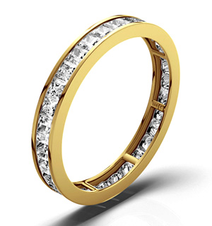 LAUREN 18K Gold DIAMOND FULL ETERNITY RING 1.00CT H/SI