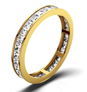 LAUREN 18K Gold DIAMOND FULL ETERNITY RING 1.50CT G/VS