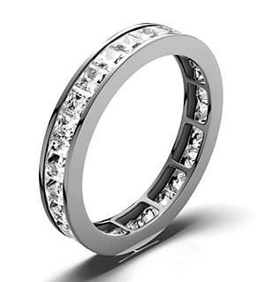 LAUREN PLATINUM DIAMOND FULL ETERNITY RING 2.00CT G/VS