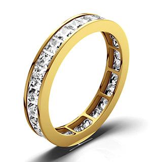 LAUREN 18K Gold DIAMOND FULL ETERNITY RING 2.00CT G/VS
