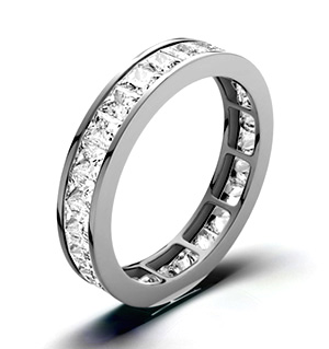 LAUREN PLATINUM DIAMOND FULL ETERNITY RING 3.00CT H/SI