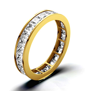 LAUREN 18K Gold DIAMOND FULL ETERNITY RING 3.00CT G/VS