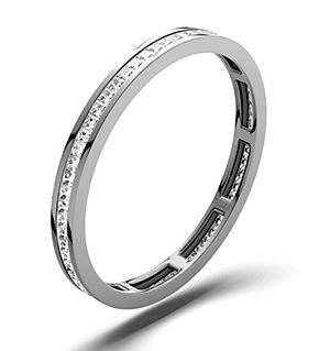 LAUREN 18K White Gold DIAMOND FULL ETERNITY RING 0.50CT H/SI