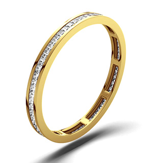 LAUREN 18K Gold DIAMOND FULL ETERNITY RING 0.50CT G/VS