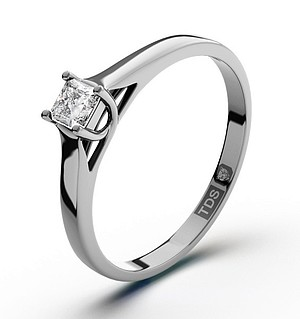 Lucy 18K White Gold Diamond Engagement Ring 0.25CT-G-H/SI