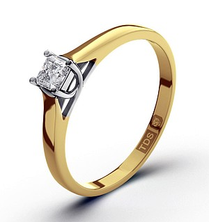 Lucy 18K Gold Diamond Engagement Ring 0.25CT-G-H/SI