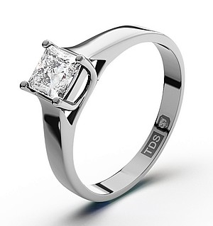 Lucy Platinum Diamond Engagement Ring 0.50CT-G-H/SI