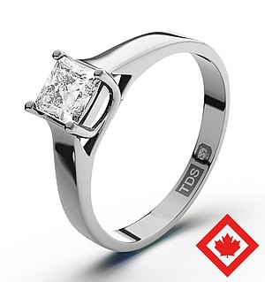 Lucy Platinum Canadian Diamond Ring 0.50CT H/SI2
