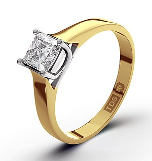 Lucy 18K Gold Diamond Engagement Ring 0.50CT-G-H/SI