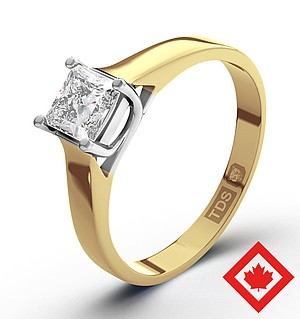 Lucy 18K Gold Canadian Diamond Ring 0.50CT H/SI1