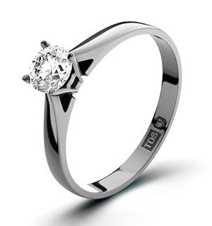 Petra 18K White Gold Diamond Engagement Ring 0.33CT-F-G/VS