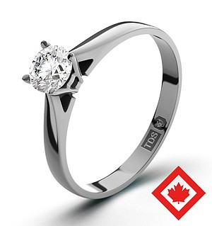 Petra 18K White Gold Canadian Diamond Ring 0.30CT H/SI2