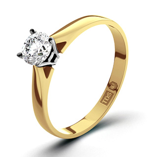 Petra 18K Gold Diamond Engagement Ring 0.33CT-F-G/VS