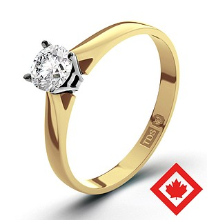 Petra 18K Gold Canadian Diamond Ring 0.30CT G/VS1