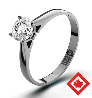 Petra 18K White Gold Canadian Diamond Ring 0.50CT G/VS1