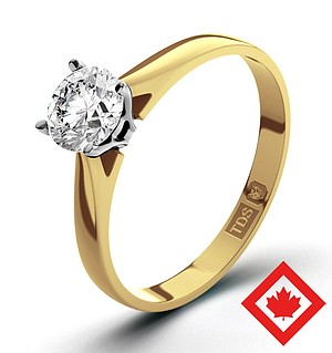 Petra 18K Gold Canadian Diamond Ring 0.50CT H/SI2