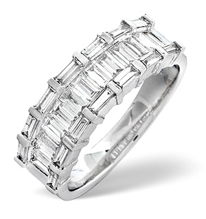 18K White Gold Diamond Ring 1.30ct H/si