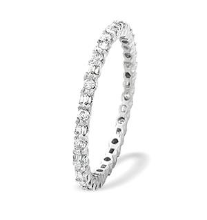 18K White Gold Diamond Eternity Ring (0.45ct)