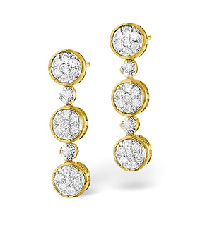 14k Yellow Gold Chandelier Earrings | Overstock.com